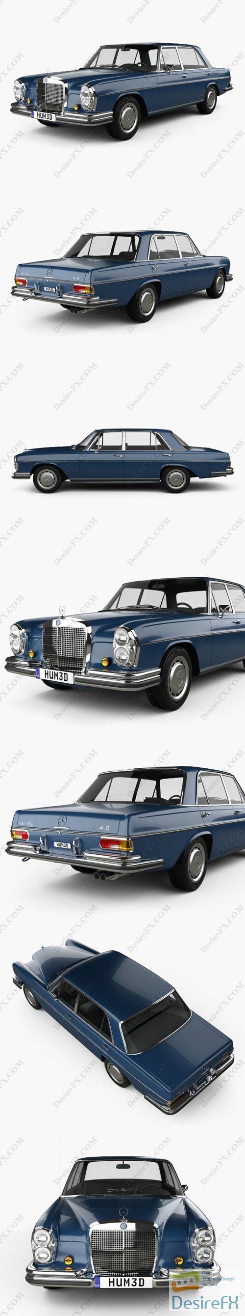 Mercedes-Benz 280 SEL 1972 3D Model