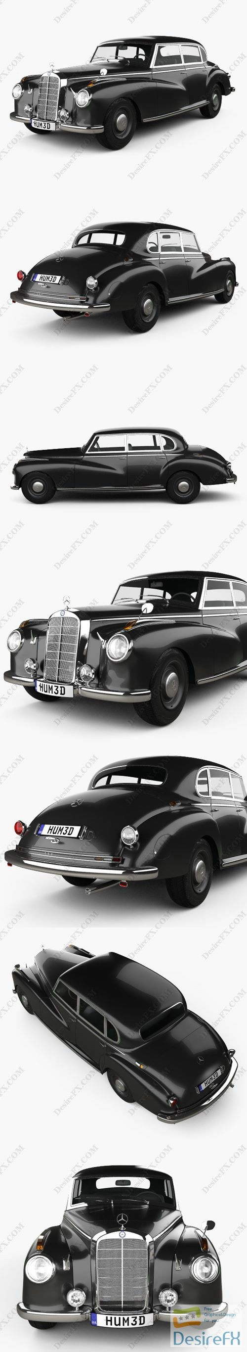 Mercedes-Benz 300 Limousine 1951 3D Model