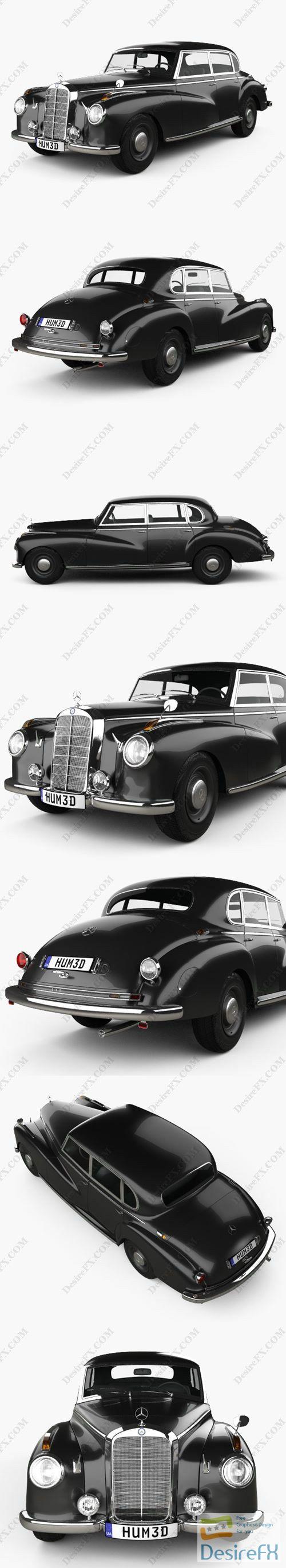 Mercedes-Benz 300 Limousine 1951 3D Model