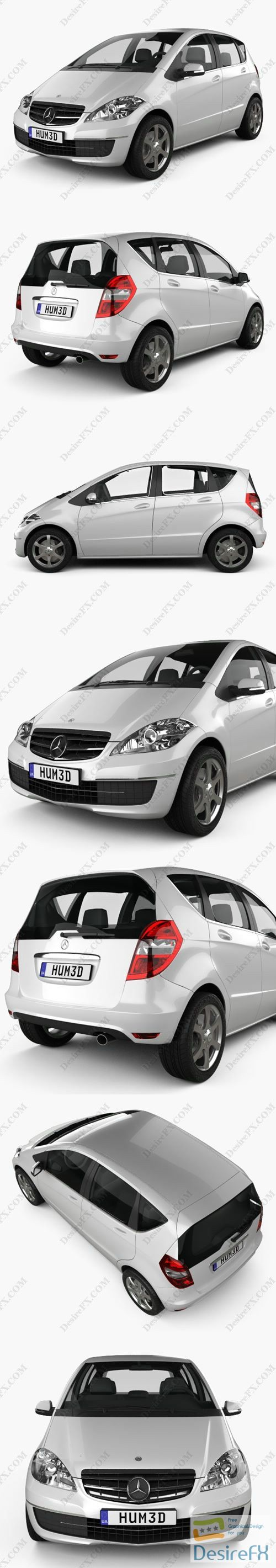 Mercedes-Benz A-Class 5-door 2010 3D Model