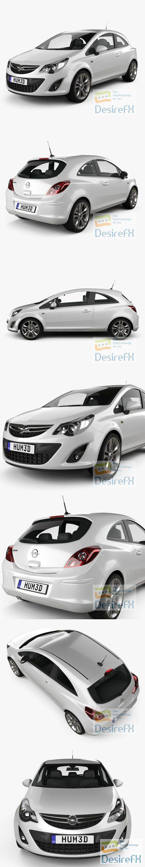Opel Corsa 3-door 2011 3D Model