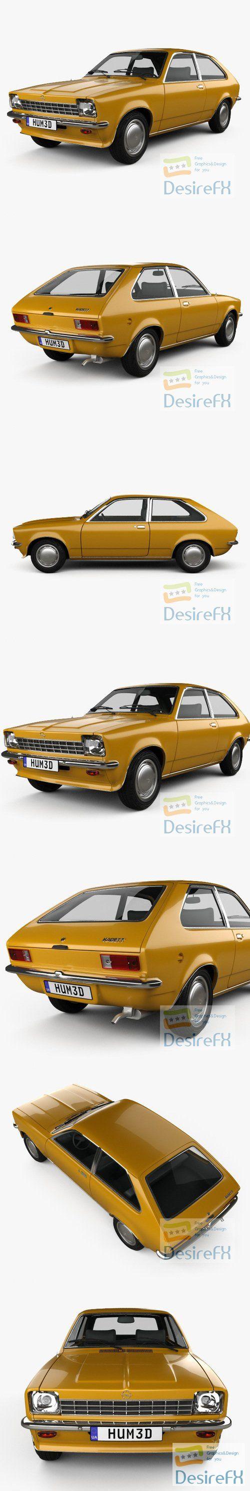 Opel Kadett City 1975 3D Model