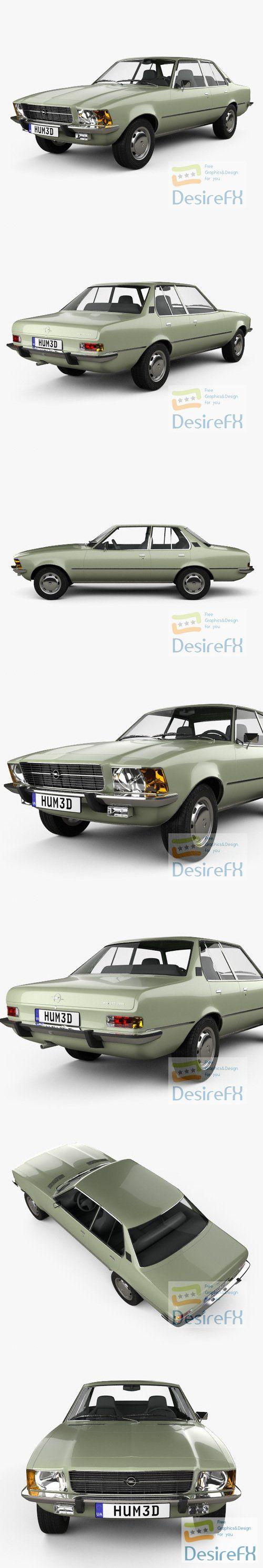 Opel Rekord 1972 3D Model