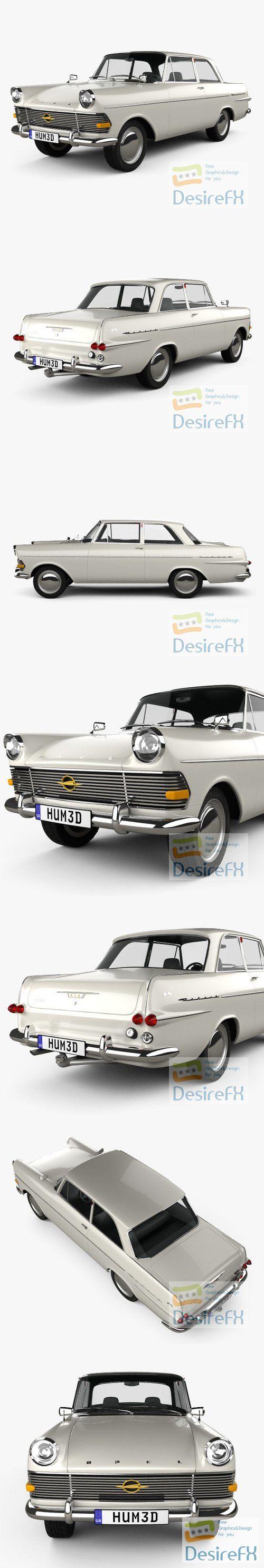 Opel Rekord 2-door sedan 1960 3D Model