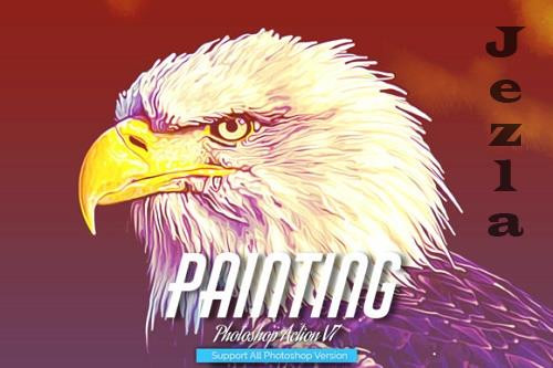 Painting Photoshop Action V7