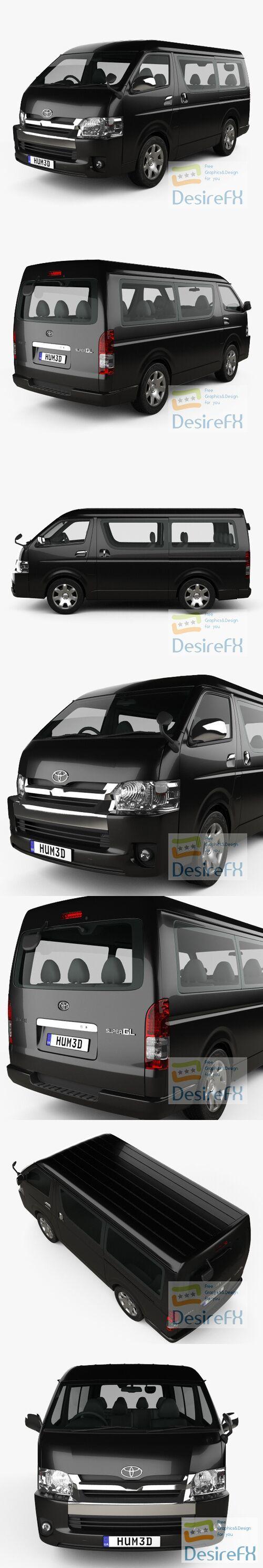 Toyota Hiace Passenger Van L1H2 GL 2013 3D Model