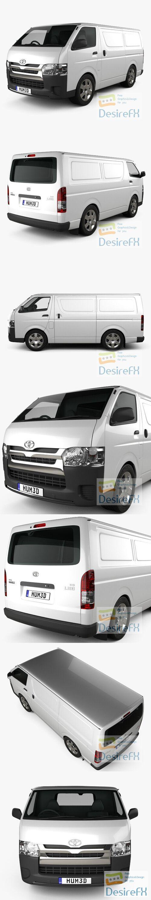 Toyota HiAce SWB Panel Van 2013 3D Model
