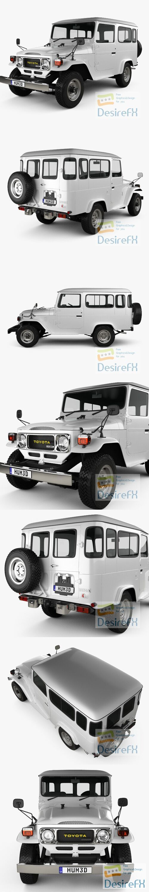 Toyota Land Cruiser Hard Top 1979 3D Model