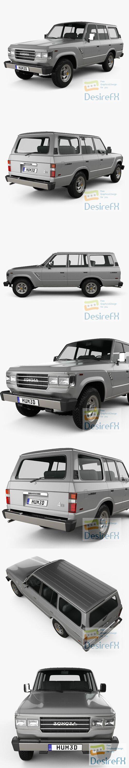 Toyota Land Cruiser US 1987 3D Model