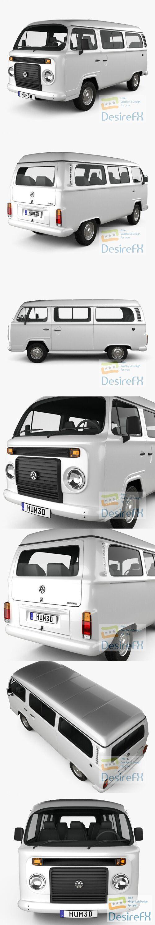 Volkswagen Kombi 2012 3D Model