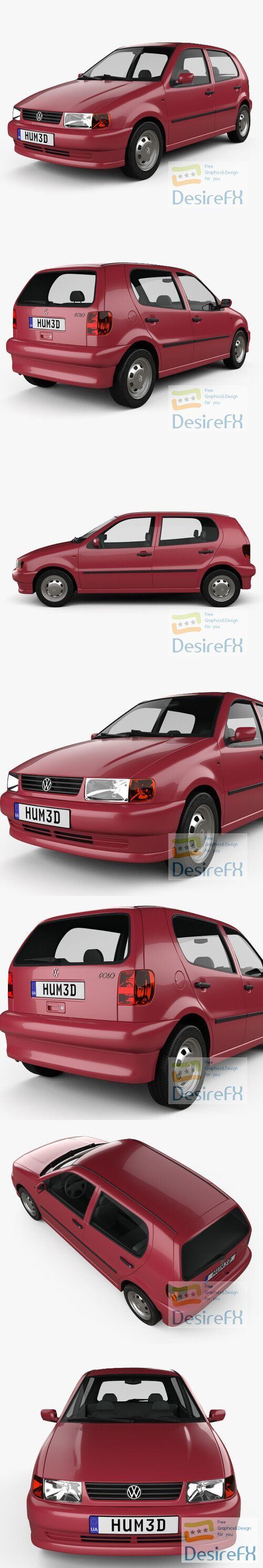 Volkswagen Polo 5-door 1994 3D Model