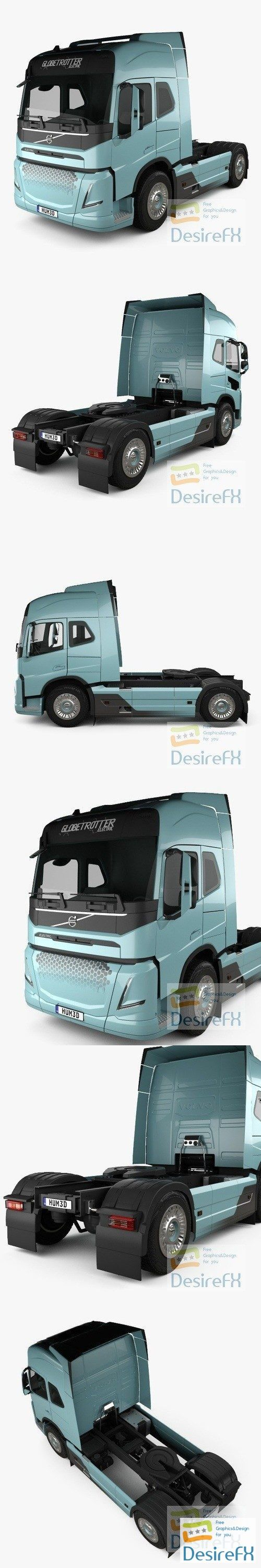 Volvo Electric Tractor Truck 2019 3D Model