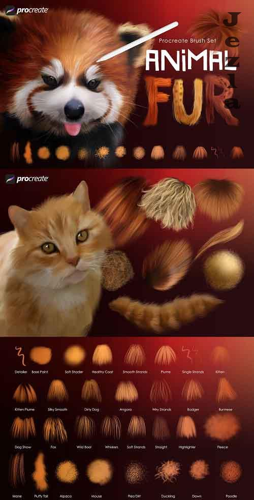 Animal Fur Procreate Brushes - 5476074