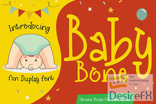 Baby Bone - Creative Fun Children Display Font