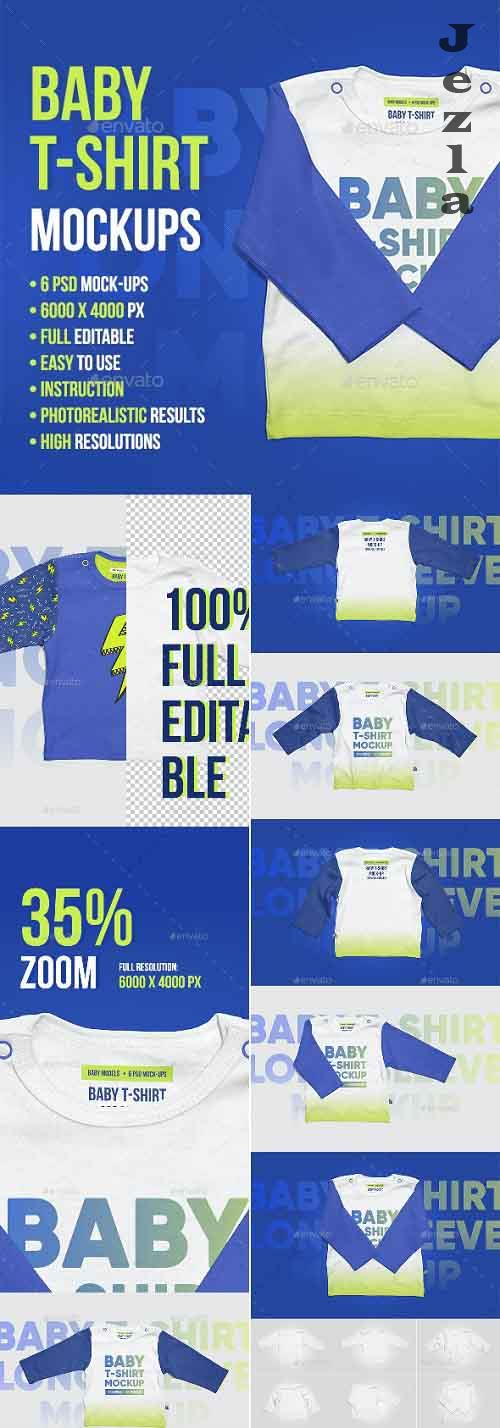 Baby T-Shirt Long Sleeve Mockups - 22444235 - 5336826