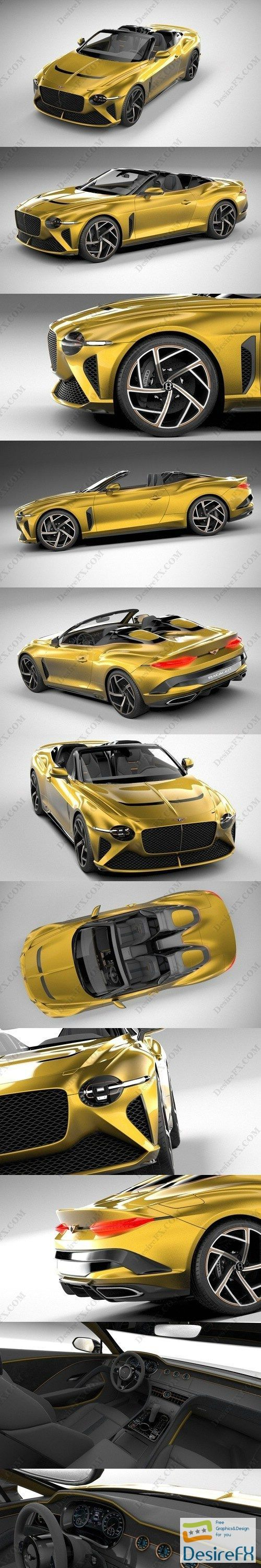 Bentley Mulliner Bacalar 2021 3D Model