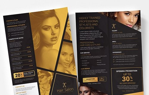 Black and Gold Poster Layout 333030951