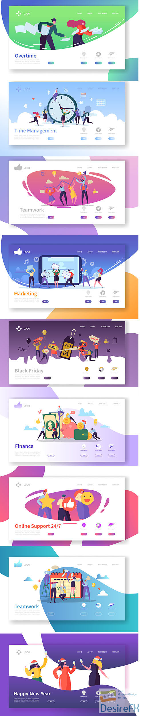 Business and finance landing page template