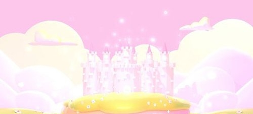 Cartoon Pink Castle 28780422