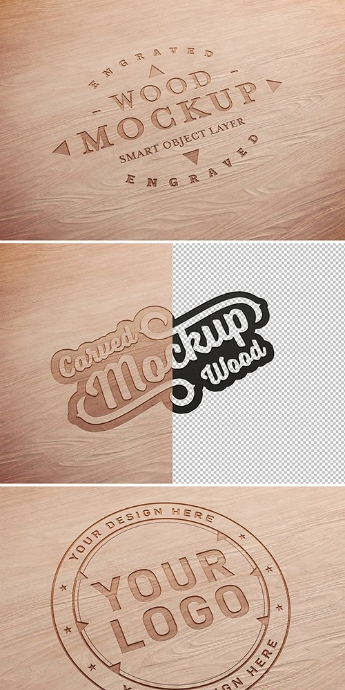 Carved Wood Text Effect Mockup 333527780