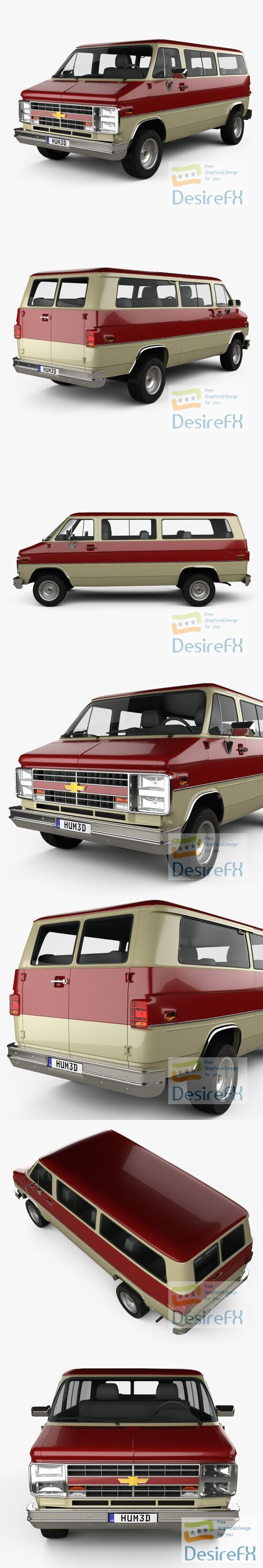 Chevrolet Beauville 1988 3D Model