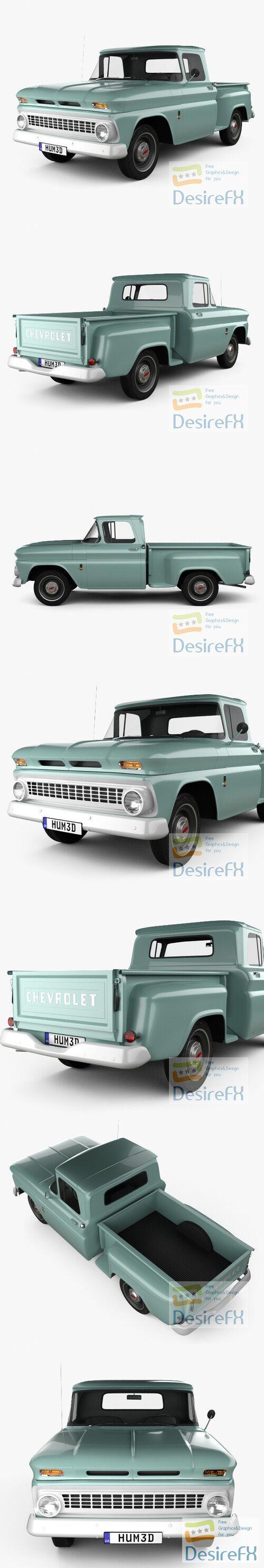 Chevrolet C10 1963 3D Model