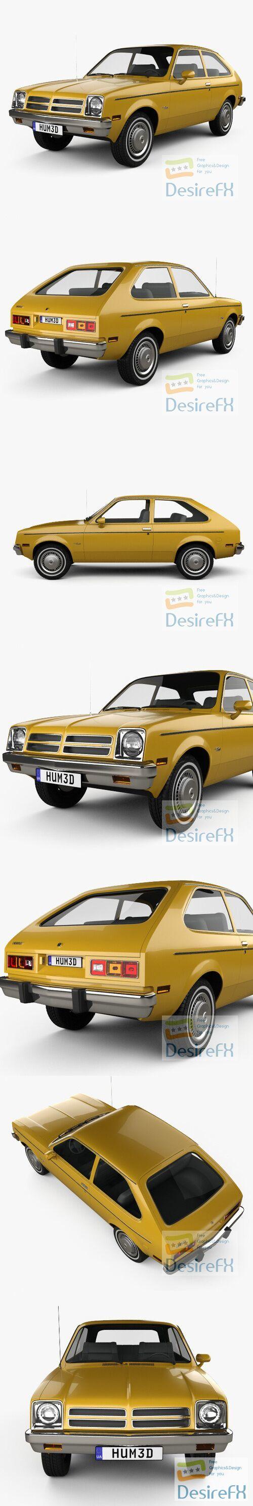 Chevrolet Chevette coupe 1976 3D Model