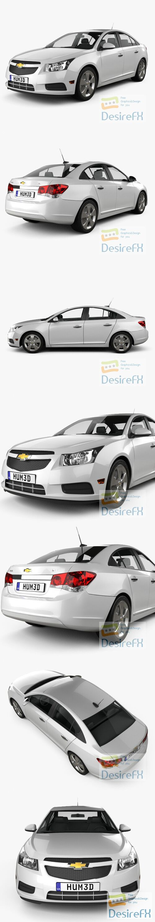 Chevrolet Cruze 2011 3D Model