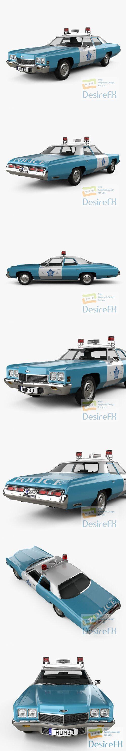 Chevrolet Impala Police 1972 3D Model