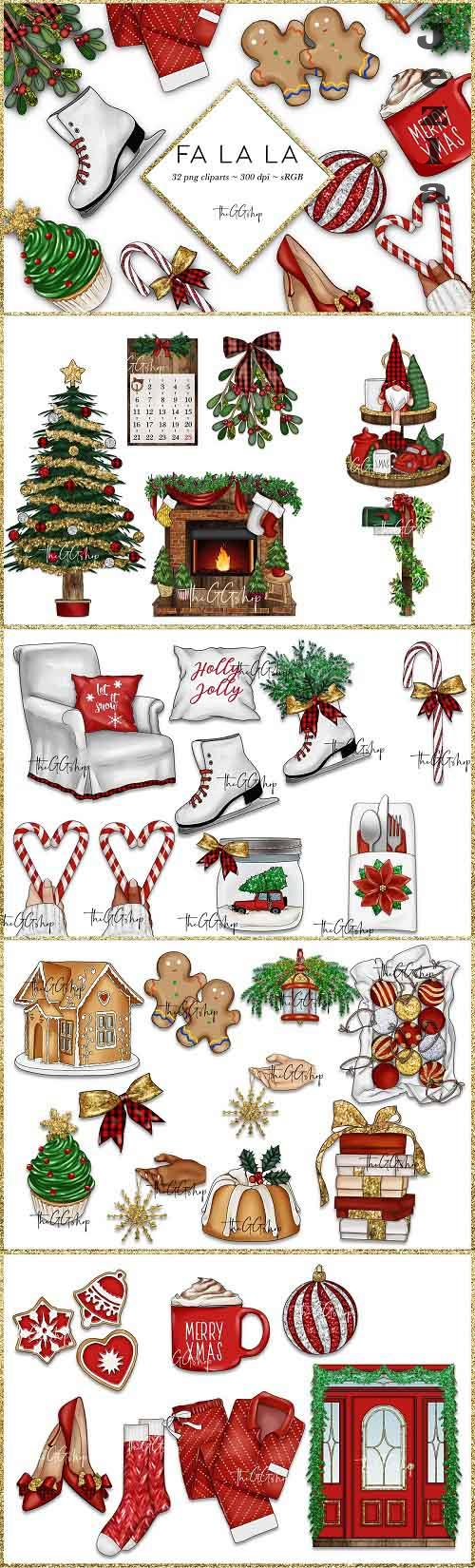 Christmas Clipart Png set - 5478205