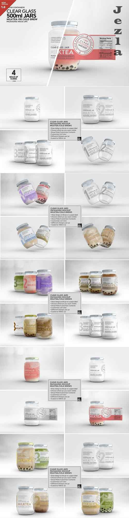 Clear Glass Jar Packaging Mockup - 5444762