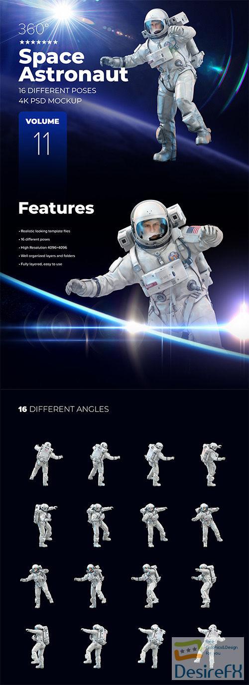 3D Mockup Space Astronaut #11 66445