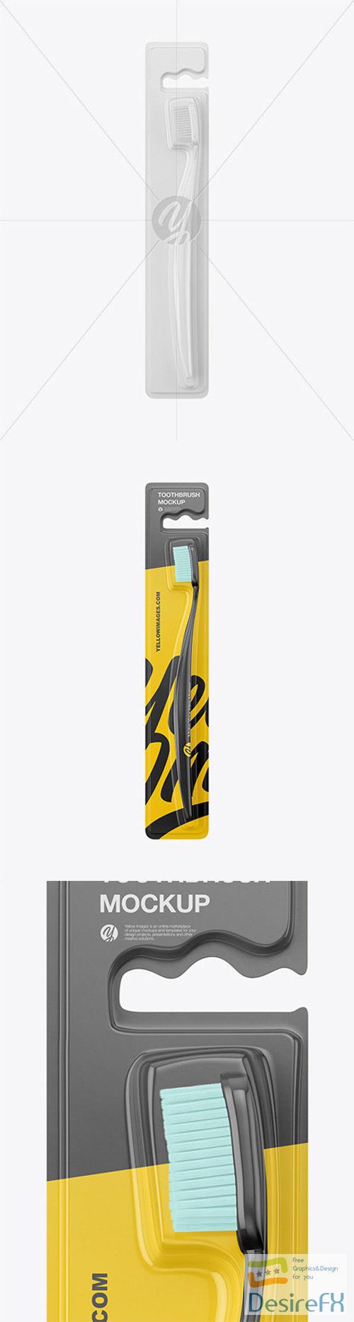 Toothbrush Blister Pack Mockup 66419
