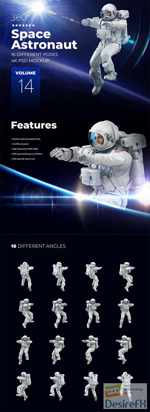 3D Mockup Space Astronaut #14 66454