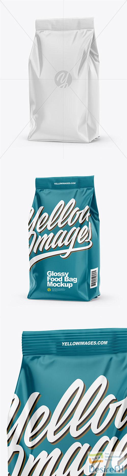 Glossy Food Bag Mockup - Half Side View 66328
