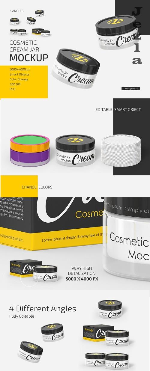 CreativeMarket - Cosmetic Cream Jar Mockup Set 5501866