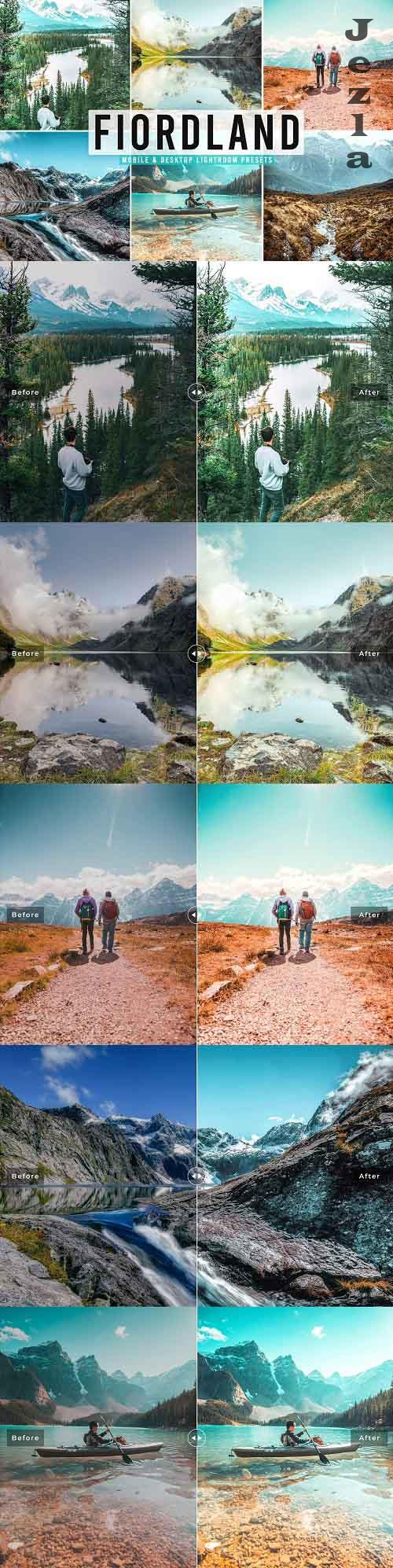 CreativeMarket - Fiordland Pro Lightroom Presets - 5496278 - Mobile & Desktop