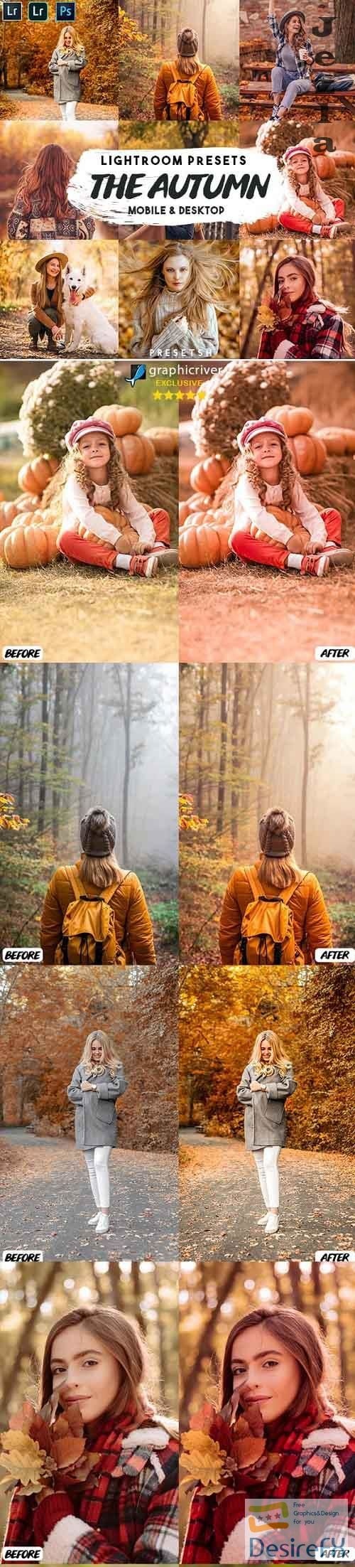 CreativeMarket - The Autumn Lightroom Presets 5506478