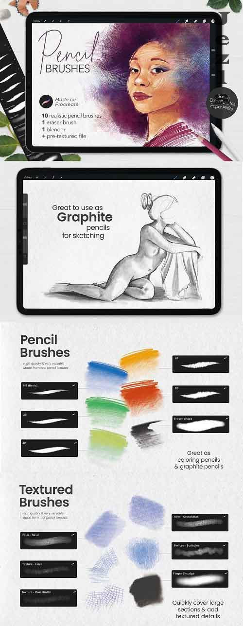 CreativeMarket - Ultimate Pencil Brushes • Procreate 5496534