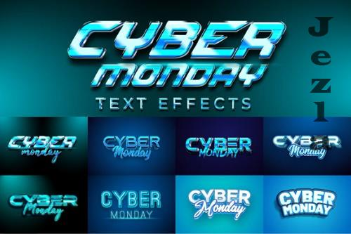 Cyber Monday Text Effects Graphic Styles