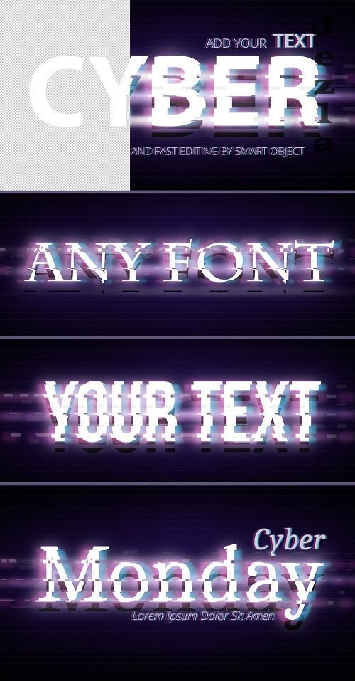 Cyberpunk Style Text Effect 385543643