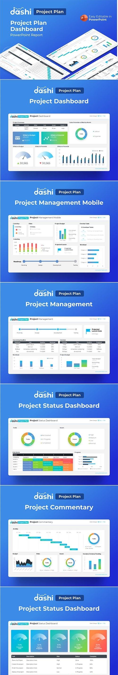 Dashi Project Plan Dashboard PowerPoint
