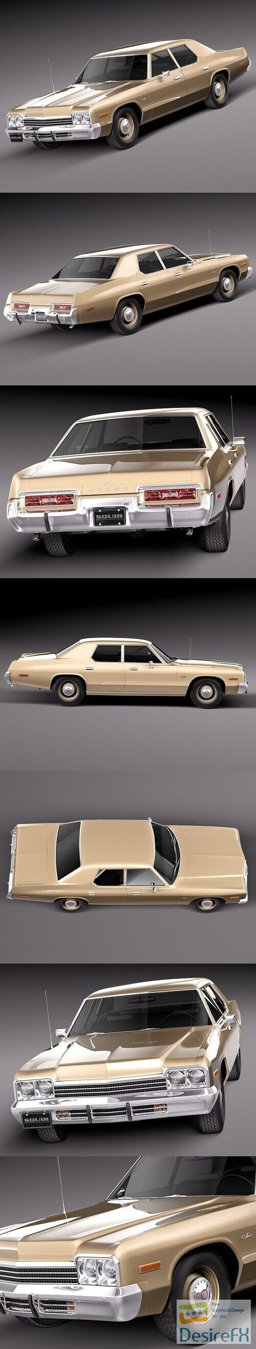 Dodge Monaco 1974 3D Model