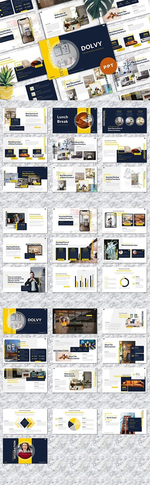 Dolvy - Furniture Powerpoint Templates