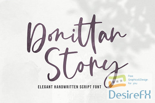 Donittan Story - Modern Signature Font