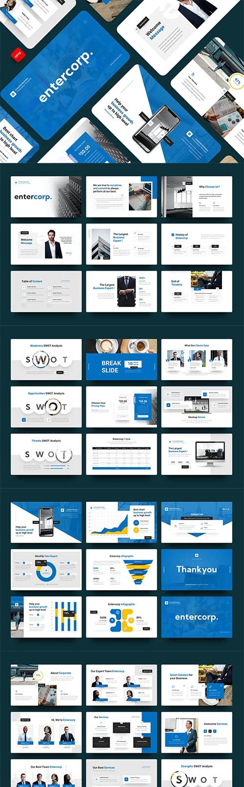 Entercorp-Corporate Business Powerpoint, Google Slides and Keynote Template