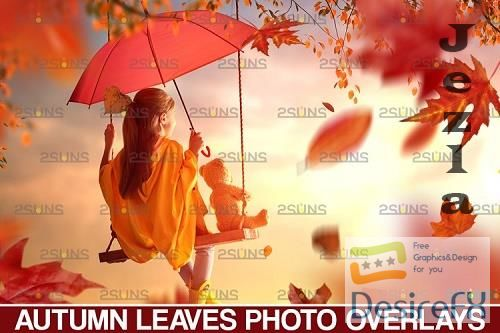Falling leaf, Photoshop overlay Fall png - 952782