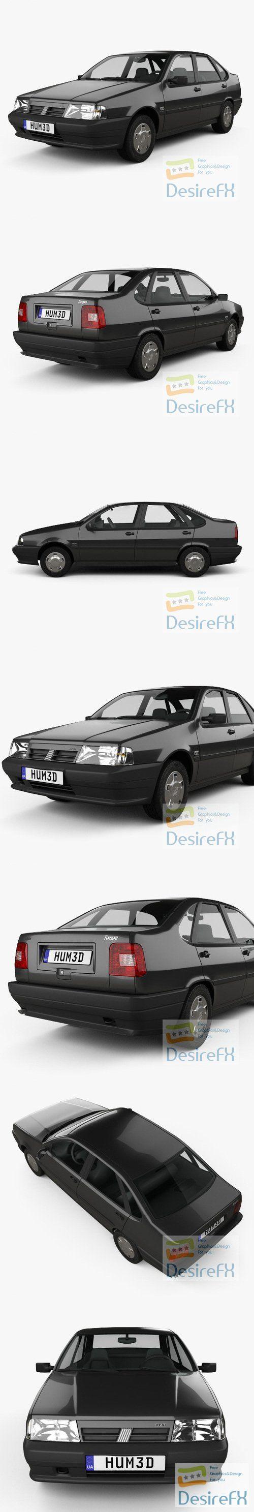 Fiat Tempra 1990 3D Model