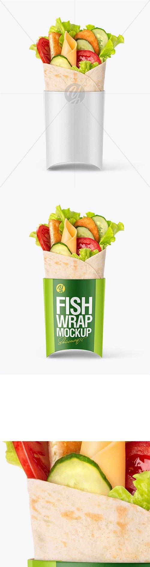 Fish Wrap Mockup 39337