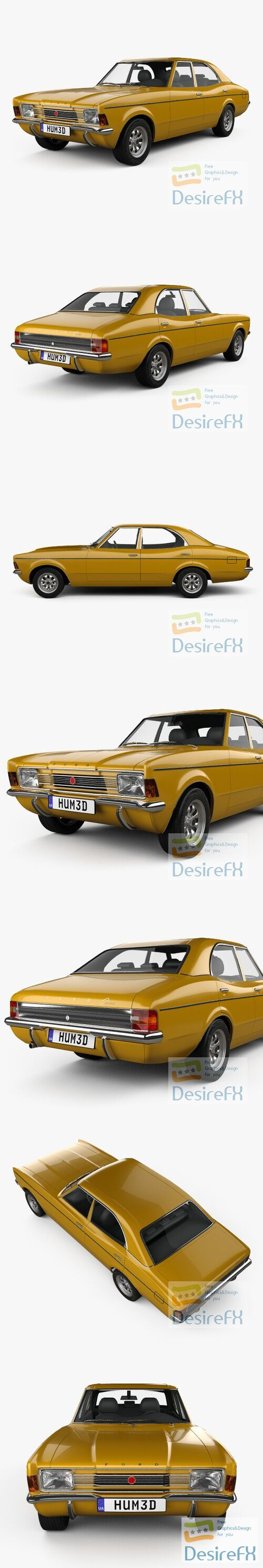 Ford Cortina TC Mark III sedan 1970 3D Model